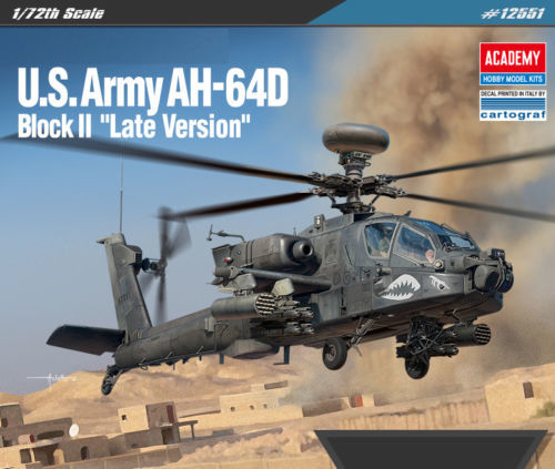 Academy 1/72 Us Arm Ah-64D Scale Model Kit