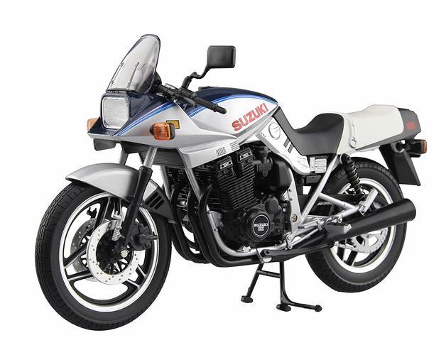 Aoshima: 1/12 Suzuki GSX-1100S Katana S (Blue & Silver) - Dicast Model