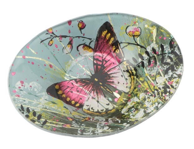 Butterfly Small Oval Bowl
