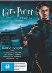 Harry Potter - Years 1-4 (8 Disc Box Set) on DVD