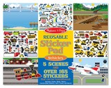 Vehicles Reusable Sticker Pad - Melissa & Doug