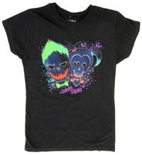 Suicide Squad Harley Quinn/Joker Jrs Tee (Medium)