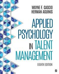 Applied Psychology in Talent Management by Wayne F. Cascio