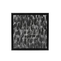 Splosh Markings Life Framed Canvas (34x34cm)