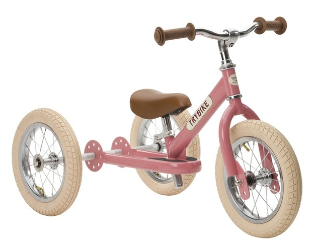 Trybike: 2-In-1 Steel Balance Bike - (Pink/Brown)