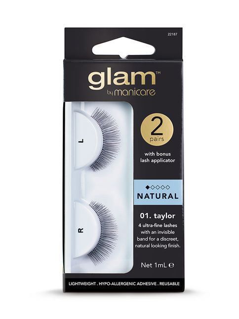 Glam by Manicare - 01. Taylor Natural Lashes (2 pk)