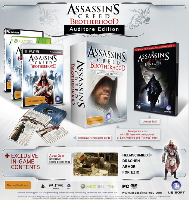 Assassin's Creed Brotherhood Auditore Collector's Edition for PS3