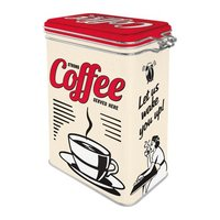 Nostalgic Art Clip Top Box - Strong Coffee Service Here