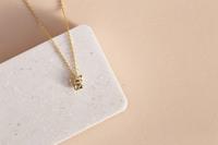 Short Story: French Bulldog Bubble Necklace - Gold image