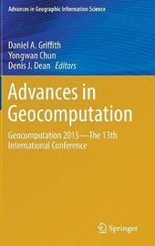 Advances in Geocomputation