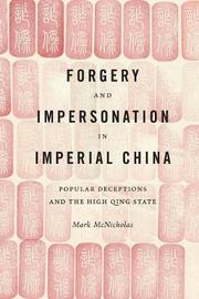 Forgery and Impersonation in Imperial China by Mark P McNicholas image