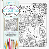 Artists' Colouring Canvas - Unique Unicorn