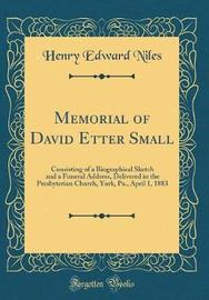Memorial of David Etter Small by Henry Edward Niles image