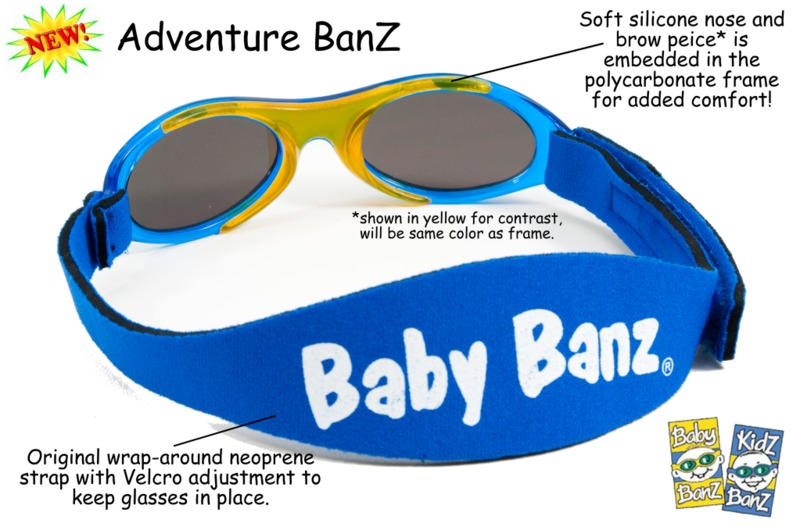 Adventure Baby Banz Sunglasses (Blue) image