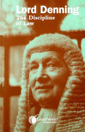 The Discipline of Law by Alfred Denning image