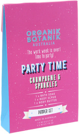 Organik Botanik Party Time Body Pamper Pack - Champagne & Sparkles