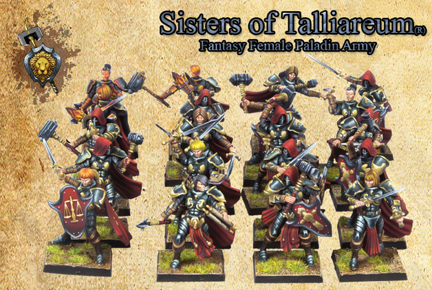 Sisters of Talliareum Female Paladins
