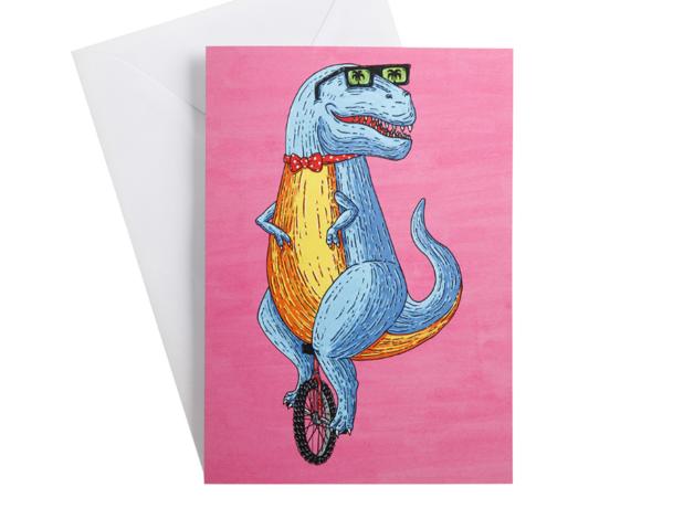 Mulga the Artist Greeting Card (TREX)