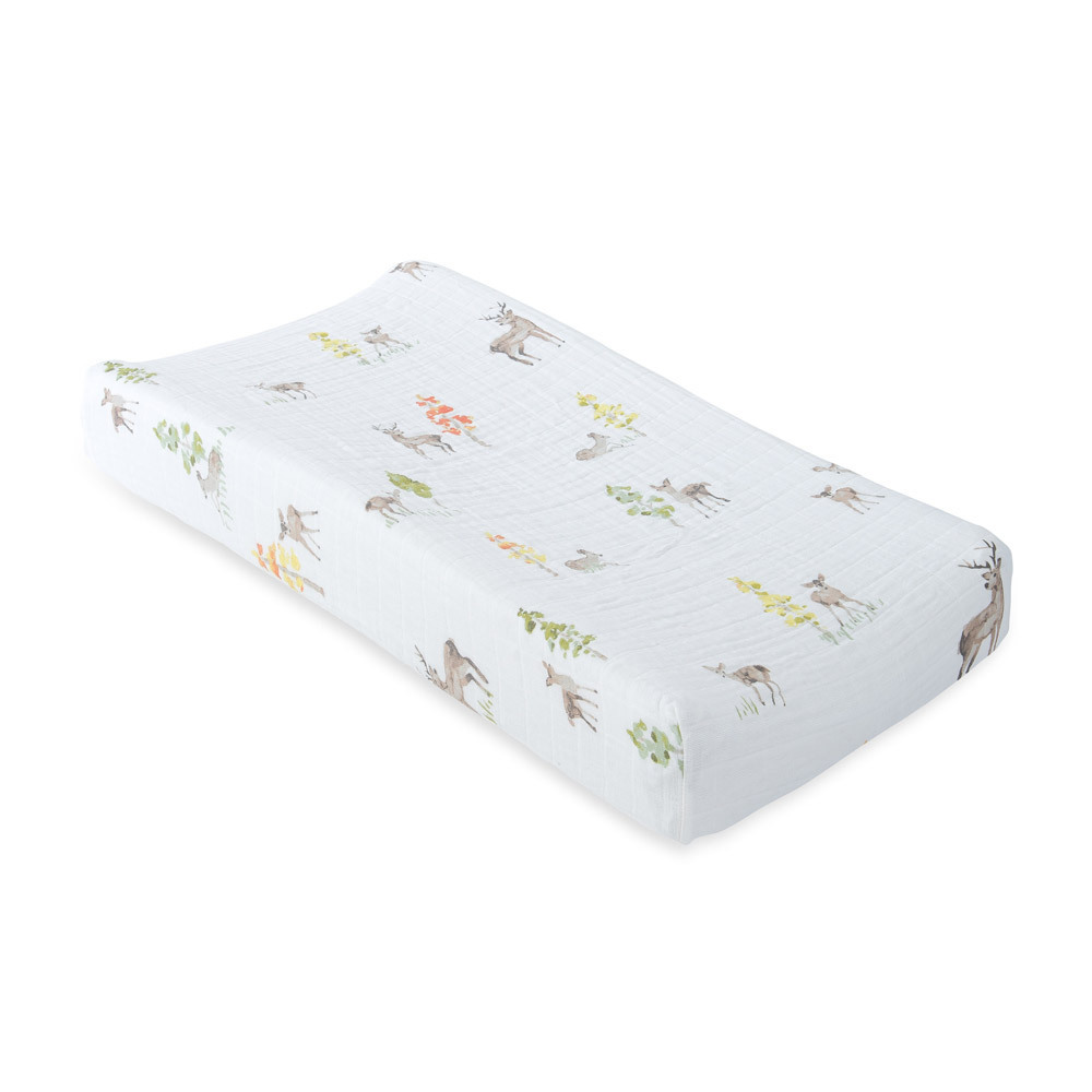Little Unicorn - Muslin Changing Pad Cover - Oh Deer image