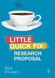 Research Proposal by Zina O'Leary