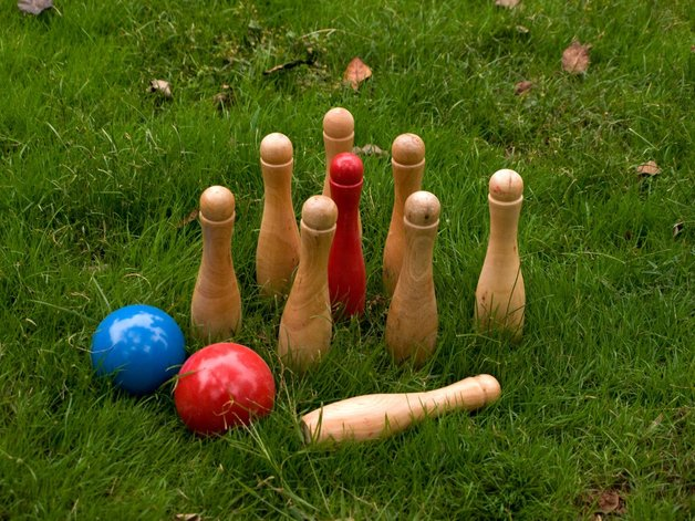 Wooden Skittles Outdoor Game Toy At Mighty Ape Nz
