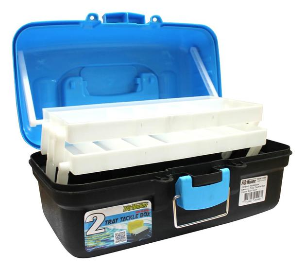 Pro Hunter Two Tray Tackle Box - Blue