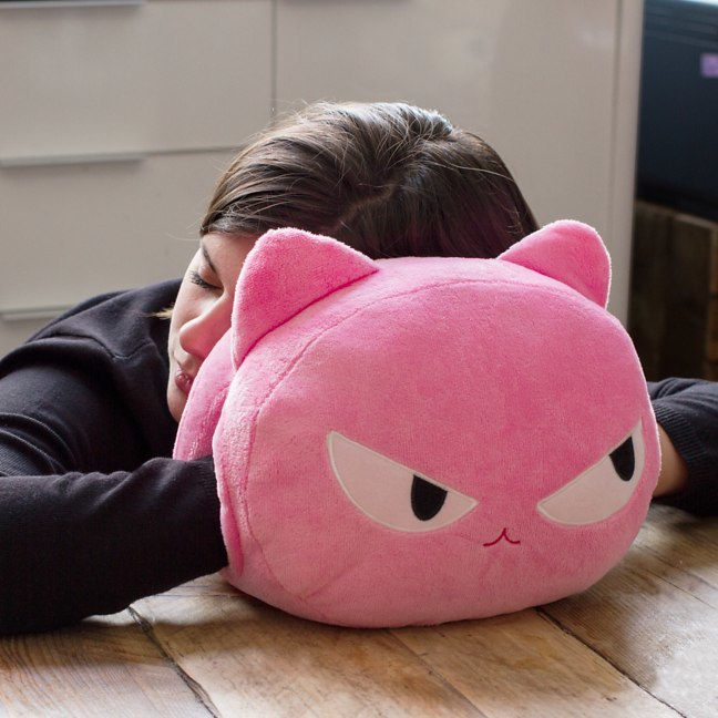 Cat Nap Cushion - Pink image