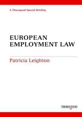 European Employment Law by Patricia Leighton