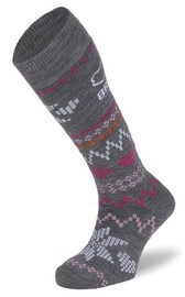 BRBL: Alaska Womens Light Grey Ski Socks (Medium)