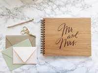 Cardtorial Wooden Guestbook - Mr. & Mrs. image