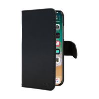 3SIXT Book Wallet Case for iPhone X/XS - Black
