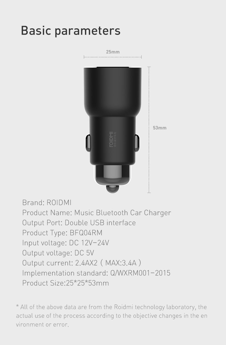 Roidmi 3s At Mighty Ape Nz Mini Fm Transmitter Circuit Xiaomi Bluetooth Charger Image