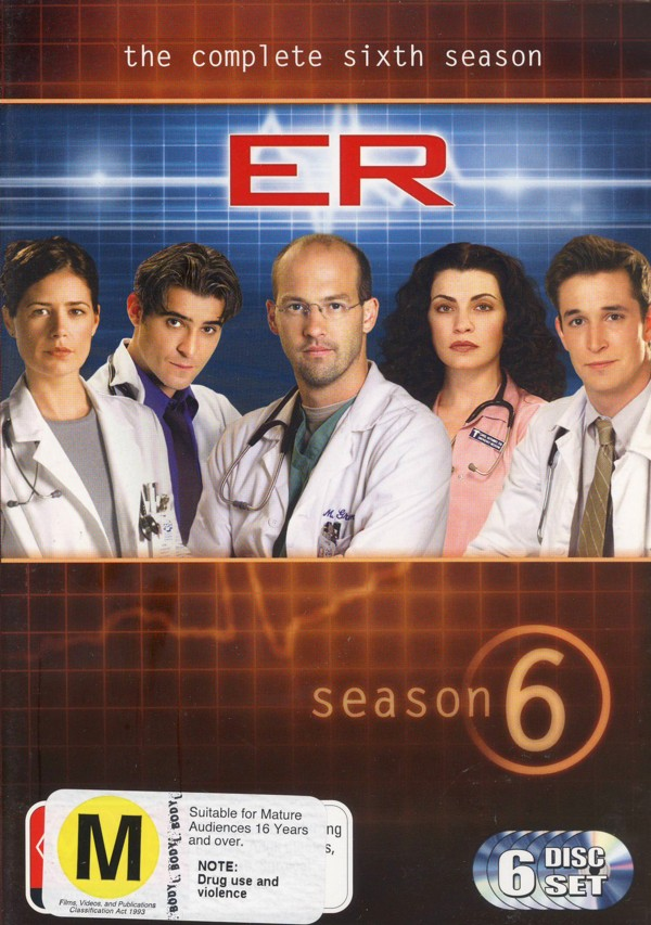 E.R. - The Complete 6th Season (6 Discs) on DVD image