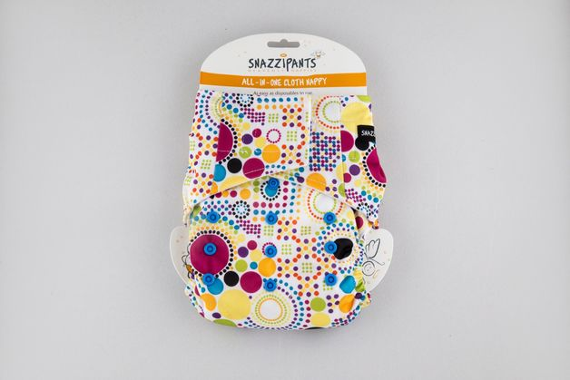 Snazzipants: All in One Reusable Nappy - Multi-circle