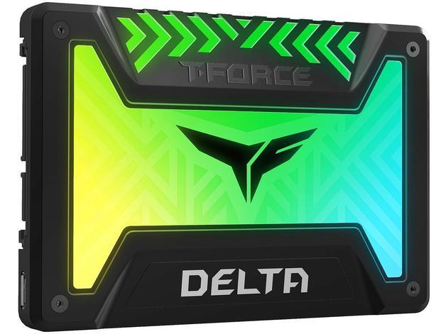"""250GB Team T-Force Delta RGB 3D NAND 2.5"""" SSD"""