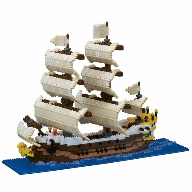 nanoblock: Free-Build Series - Deluxe Sailing Ship
