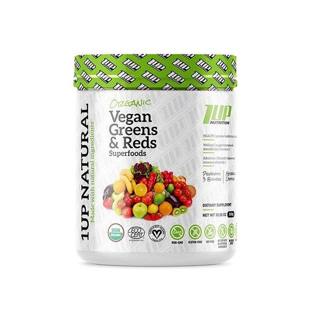 1Up Nutrition: Natural Vegan Reds & Greens Superfoods (30 Serve)