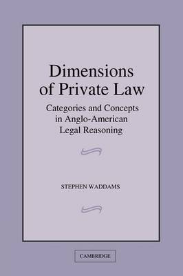 Dimensions of Private Law by Stephen Waddams image