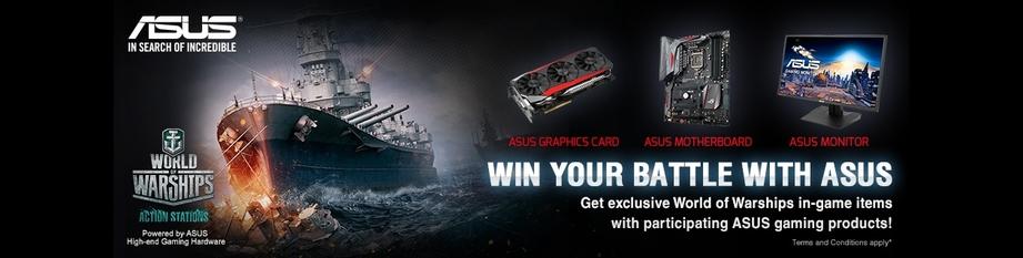 World of Warships bonus with Asus!