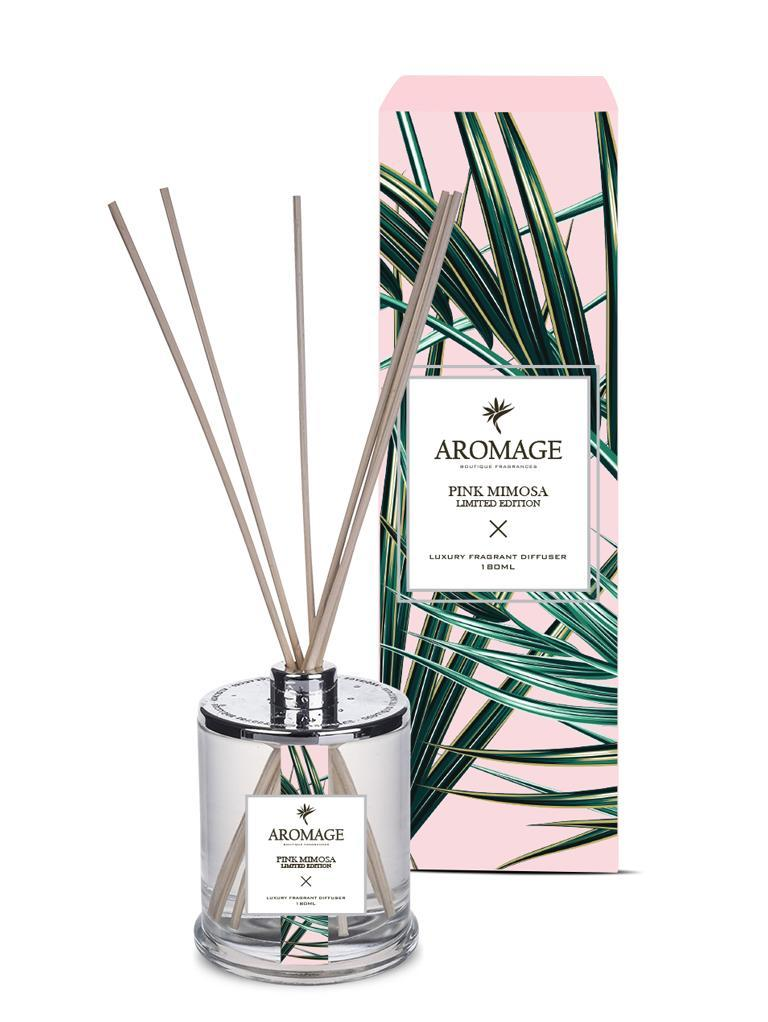 Aromage Diffuser - Pink Mimosa Clear Glass Bottle image