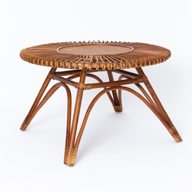 Round Rattan Table