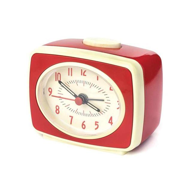 Small Classic Alarm Clock - Red