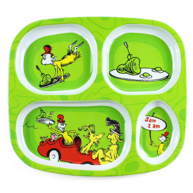 Bumkins: Dr Seuss Melamine Divided - Plate Eggs