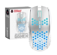 Gorilla Gaming HEX RGB Mouse (White) for PC