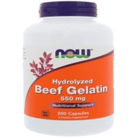 Now Foods Hydrolyzed Beef Gelatin 550 mg (200 Caps)