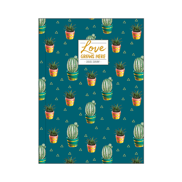 Legami: Mini Photo Weekly 12 Month 2021 Diary - Cactus (8 x 11cm)
