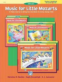 Music for Little Mozarts Teacher's Handbook, Bk 1 & 2 by Christine H Barden image