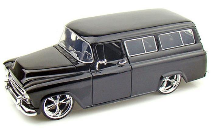 Jada: 1/24 57' Chev Suburban (Black) – Diecast Model image