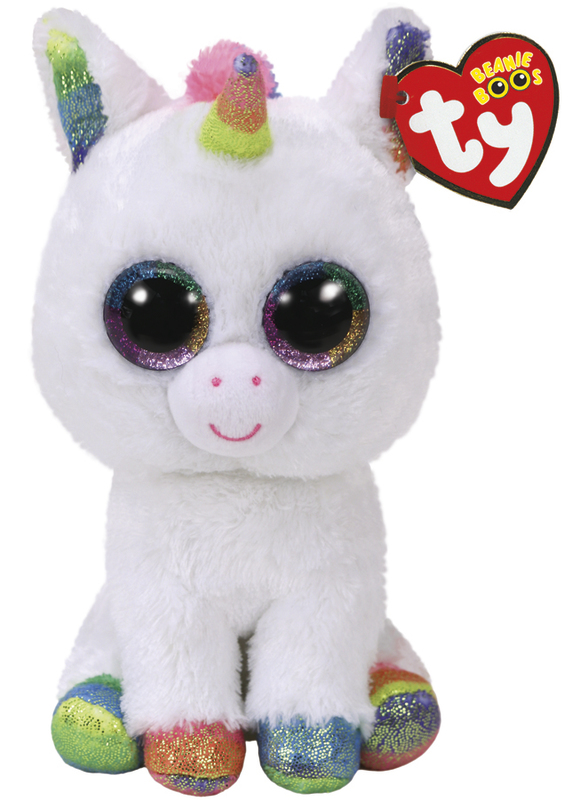 Ty Beanie Boo: Pixy White Unicorn - Small Plush
