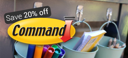 20% off Command Adhesives